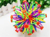 Wholesale 100pcs New expanding sphere mini ball kids toy rainbow Colorful flower magic ball children s toys D916
