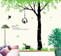 Wholesale high quality DIY Fashion Tree Living Room Background Wall Sticker Bedroom Wall Decor
