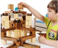activity block toy - Kids Educational Activity Toy Wooden Wood Marble Run Building Blocks Set Intelligence Educational Toy