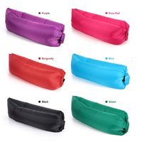 Wholesale 2016 Hottest Fast Inflatable Camping Sofa banana Sleeping Lazy Chair Bag Nylon Hangout Air Beach Bed chair Couch for Adult and Kids DHL Free