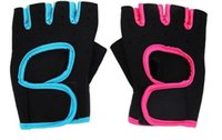 Wholesale 2016 Sports Gloves Fitness Exercise Training Gloves Fingerless Crossfit Unisex Guantes Luva Weightlifting Antiskid Gloves LJJC1579
