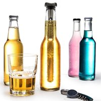 Wholesale New Stainless Steel Wine Liquor Chiller Cooling Ice Stick Rod In Bottle Pourer Beer Chiller Stick Chill Alcohol Ice Drinks Wine Cold