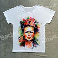 artist t shirt - Track Ship Vintage Retro Good Feeling T shirt Top Tee Mexico Artist Painter Magdalena Carmen Frida Kahlo