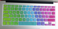 Wholesale Colorful silicone keyboard protective film for inches APP laptops keyboard