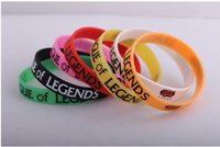 Wholesale 1pcs LOL Wristband Debossed Silicon Rare Glow Bracelet Promotion Gift Friends Gifts
