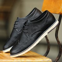 Cheap Casual shoes British fashion Bullock Dress shoes Married Shoes Party shoes Low to help Lacing rubber PU Adhesive shoes Car suture Pure color