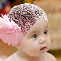 accessories web - Baby Lace Flower Hair Web Headbands Girls Flower Hair Band Infant Lovely Headwrap Children Birthday Hair Accessories Colors