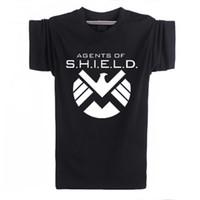 agent orange shirt - Funny America Captain Agents Of Shield Eagle Logo T shirts Cotton Hip Hop Gym T Shirts Men Summer Camisetas Original Shirts