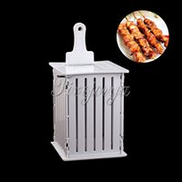 barbecue sets - NEW Hole Skewers Food Slicer BBQ Brochette Grill Shish Kebab Maker Box Kit Tool SET for meat easy to cut
