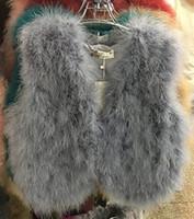 Wholesale 2016 autumn winter new women s natural ostrich fur real fur vest coat sleeveless short fur casacos tops solid color warm coat