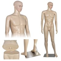 Wholesale Male Adult Plastic Mannequin Realistic Standing Turnable Head Rotate Arms Flesh
