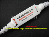 Wholesale Mini RF LED Controller Single Color With Wireless Remote Control Mini Dimmer for Led Strip Lights V