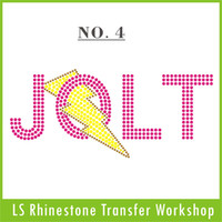 Wholesale Custom JOLT rhinestone transfer to USA UK AU and so on cost