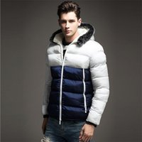 Wholesale Fall Autumn Winter Thick Men s Jacket Hit Color Cotton Padded Jacket Casual Stitching Fashion Outdoor Sport Winter ClothingA2207