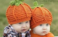 baby skull shape - Funny Cartoon Pumpkin Shape Crochet Warm Boy Cap Girl Hat Baby Cap Baby Hat For Infant Newborn Photography Props Drop Shipping
