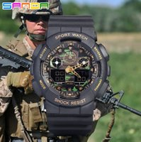 high end watches - The new men s Camo outdoor sports watch waterproof fashion high end climbing dual display electronic watches