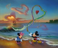 abstract art museums - Jim Warren Mickey Romantic Genuine Handpainted disney Cartoon Pop Art oil Painting On Canvas Museum Quality any coustomized size Available