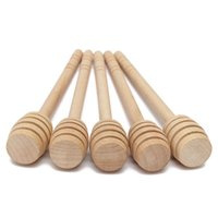 Wholesale New Arrival Trendy Wooden Honey Spoon Stick for Honey Jar Long Handle Mixing Stick