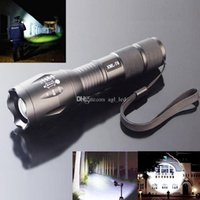 Wholesale Motorcycle Lighting Easy Carry and SOS function E17 CREE XML T6 LED Zoom Flashlight Waterproof Torch LM Mode Bright