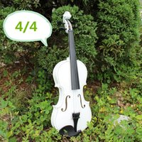 Wholesale 1 Antique Violin Make Violino Spruce Basswood White Wood Bow Stringed Instrument Musical More Colors