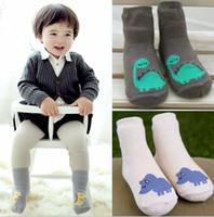 baby boy feet - Korean Style Baby Kids Socks Pure Cotton Cartoon Dinosaur Socks Infant Socks Boys Girls All Macth Socks Soft Feet Wear Colors Socks