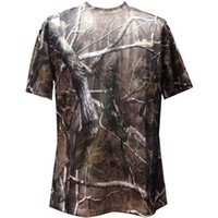 Wholesale Men T shirt quick dry camouflage T shirt Short Sleeve Outdoor Sports Anti sweat Hunting T shirt Clothes