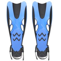 Wholesale Adult Adjustable Submersible Long Fins Snorkeling Foot Flipper Swimming Diving Size