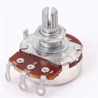 Wholesale A500K mm Short Shaft Potentiometers Voice Volume Adjustment Switch for ELectric Guitar Bass