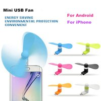 Wholesale Pocket Fans USB Gadget Portable Summer Micro USB Cooling Fan Mini Fan Universal For Iphone Android OTG Phones Power Bank Laptop