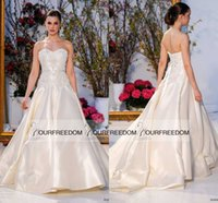 barges for sale - Anne Barge Spring Sweetheart Neck Wedding Dresses Exquisite Embroidery For Bodice Court Train Bridal Gown Custom Made Hot Sale