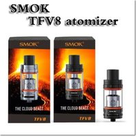 best pack brand - 2016 new brand Smok TFV8 Atomizer Smoktech ml TFV8 Cloud Beast Tank With V8 T8 V8 Q4 Coil Head Best Updated TFV4 Tank with retail pack
