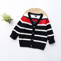 Wholesale 2016 Girl Cardigan Striped Single Breasted Girls Long Sleeve Sweater Knitwear Casual Kids Sweater Coat Children