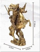 ancient chinese statues - Chinese Ancient Hero Guan Gong Guan Yu ride on horse bronze statue