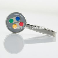 art necktie - New Elegant Design Men Tie Clips Controller art picture Classic tie pin Promotion Formal Wear Necktie Tie Clip T