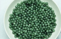 apple necklace shop - 50pcs MM Natural emerald Burmese Jade green jade beads ice round bead DIY bracelet necklace Burmese Jade Loose Beads Free Shopping apple