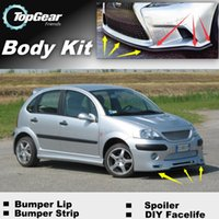 Wholesale Bumper Lip Lips For Citroen C3 C3 Picasso Front Skirt Deflector Spoiler For Car Tuning The Stig Recommend Body Kit Strip