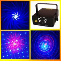 Wholesale Fast DHL Star Laser Light M Stage Lighting mW Red Bule Laser DJ Party Stage Light Black Disco Dance Lights