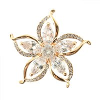 Wholesale China Lady Fashion Suit - Korean fashion accessories manufacturers wholesale direct ladies suits coat bright zircon sun flower brooch pin 4.0*4.0cm natural crystal