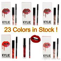 Wholesale Kylie jenner Lip Kit Liquid Matte Lipstick Lip liner Set Lipsticks in Red Velvet Makeup Lip Gloss Cosmetic