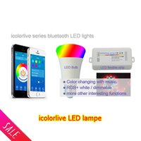 android lampe - Newest LED RGB Bulb lampe Bluetooth Smart LED Light Dimmable E27 Lampe control by IOS Android app