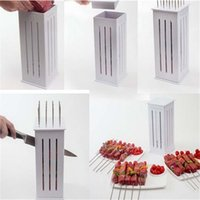 bbq bamboo skewers - Brochette Express Bamboo Skewers Food Slicer BBQ Grill Shish Kebab Maker Kit H4217