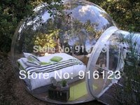 Wholesale outdoor camping bubble tent clear inflatable lawn tent bubble tent