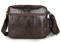Wholesale Vintage genuine leather man messenger bag men briefcase quot laptop shoulder bag