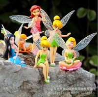 Wholesale 1 PVC Figure Toy Tinkerbell Fairy Adorable Figures set Action Figures High Quality