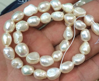 Wholesale New mm Natural Baroque White Freshwater Real Pearl Loose Beads quot Strand