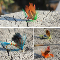 bass trout - Fly Fishing Lure Flies Saltwater Insert Bass Trout Dry Fishing Lure Baits DHL