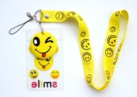 anime phone strap - NEW Cartoon Anime Smile Face Neck mobile Phone lanyard Keychain straps