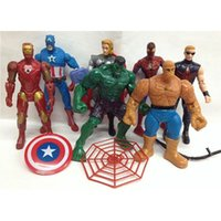 Wholesale 7pcs The Avengers avengers alliance Captain America Wolverine Thor Spiderman Batman Action Figures Toy