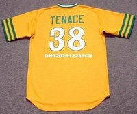 athletic gene - GENE TENACE Oakland Athletics Majestic Cooperstown Home Baseball Jersey
