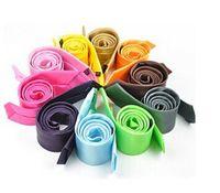 Wholesale Men s Polyester Printed Skinny tie cm width solid color ties